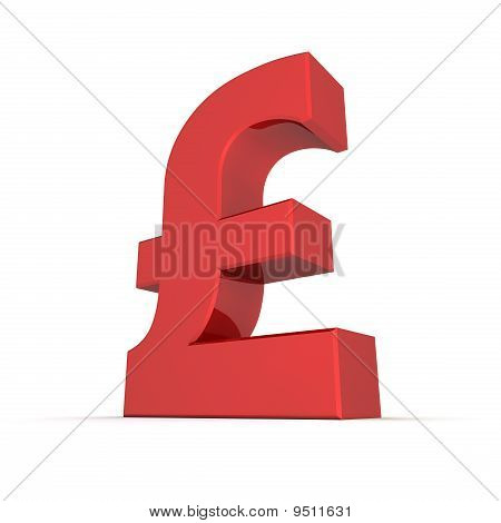 Red Shiny Pound Symbol