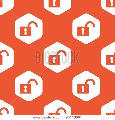 Orange hexagon unlocked pattern