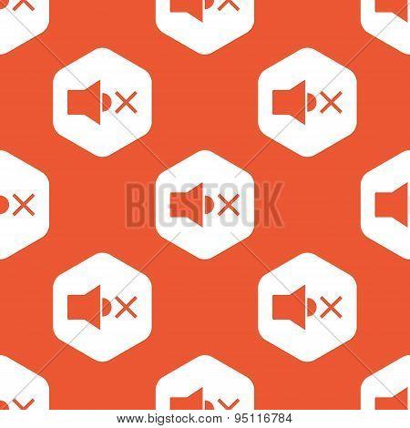 Orange hexagon muted sound pattern