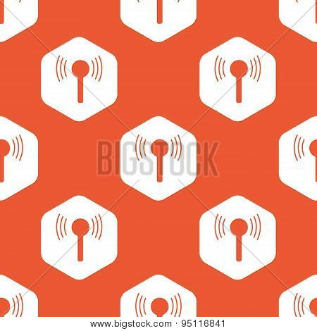 Orange hexagon signal pattern