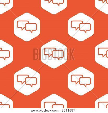 Orange hexagon chat pattern