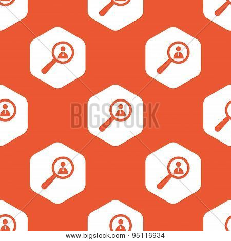 Orange hexagon user details pattern