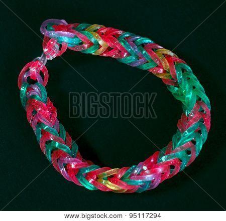 Rainbow Colors Rubber Bands Loom Bracelet