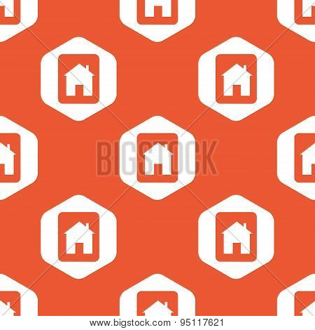 Orange hexagon house tablet pattern