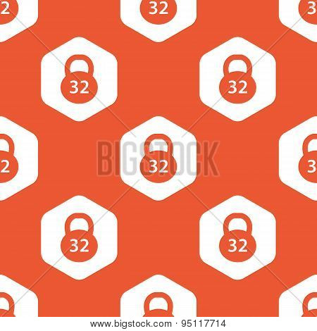 Orange hexagon dumbbell pattern