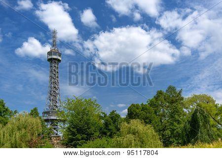 Prague Petrin Hill Tower And Park