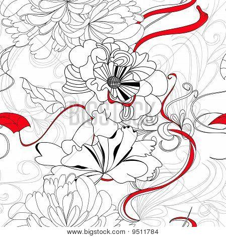 Hand Drawn Seamless Background