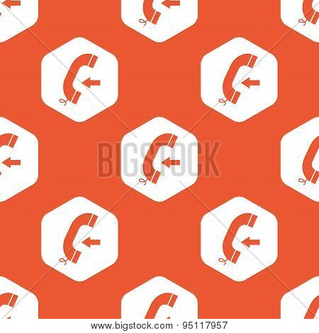 Orange hexagon incoming call pattern