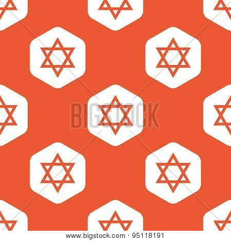 Orange Star of David pattern
