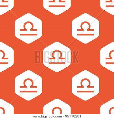 Orange hexagon Libra pattern