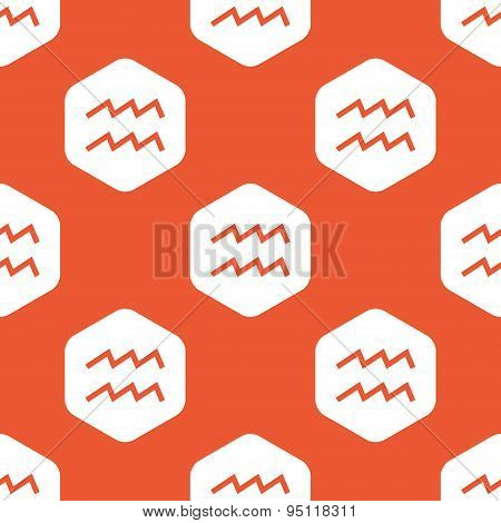 Orange hexagon Aquarius pattern