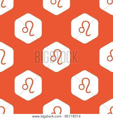 Orange hexagon Leo pattern