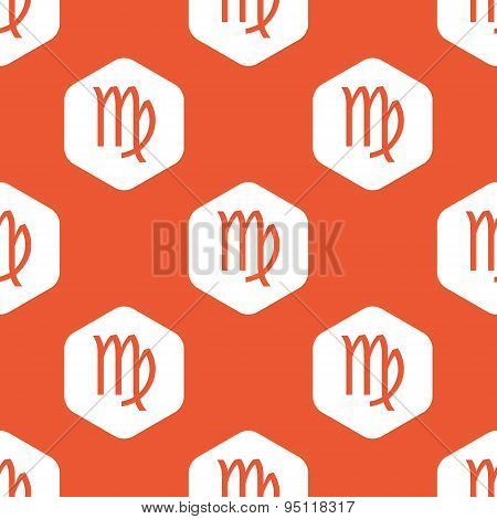 Orange hexagon Virgo pattern