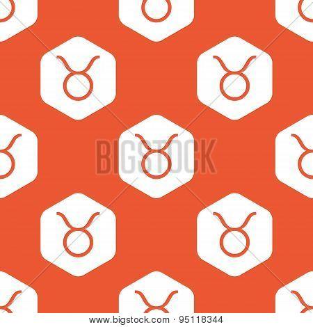 Orange hexagon Taurus pattern