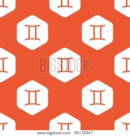 Orange hexagon Gemini pattern