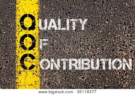 Business Acronym Qoc As Quality Of Contribution