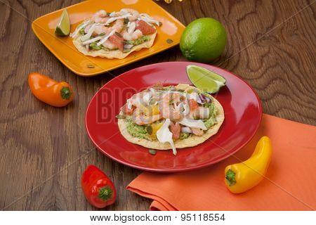 Shrimp Ceviche Tostada