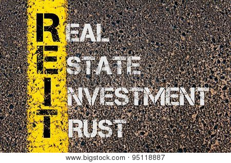 Business Acronym Reit As Real Estate Investment Trust