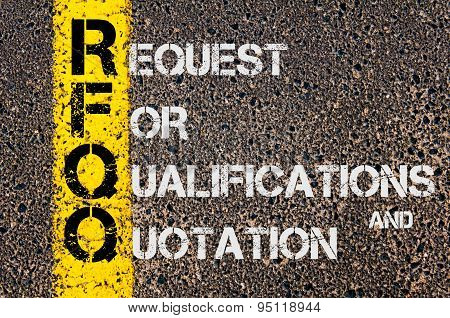 Business Acronym Rfqo As Request For Qualifications And Quotation