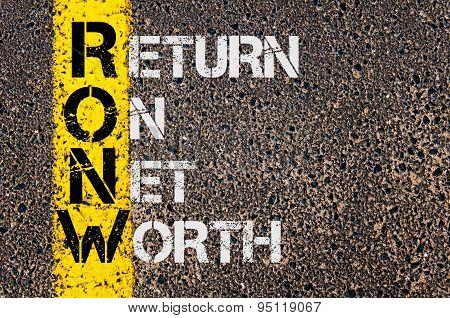 Business Acronym Ronw As Return On Net Worth