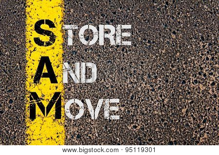 Business Acronym Sam As Store And Move