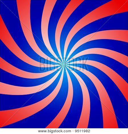 Roten und blauen Twist