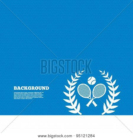 Tennis rackets with ball icon. Sport symbol.