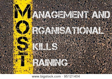 Business Acronym Most As Management And Organisational Skills Training