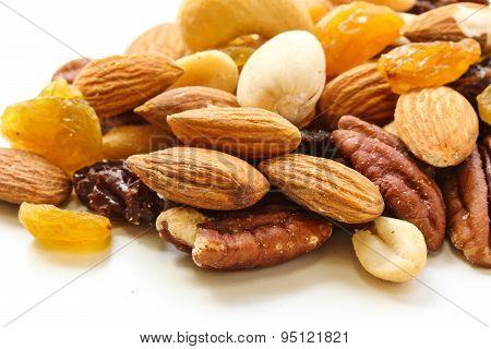 Mixed Nuts Healthy snack close up shot
