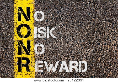 Business Acronym Nonr As No Risk No Reward