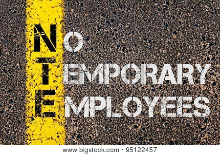 Business Acronym Nte As No Temporary Employees