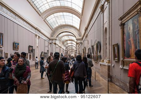 Inside The Hall Of Louvre Museum.