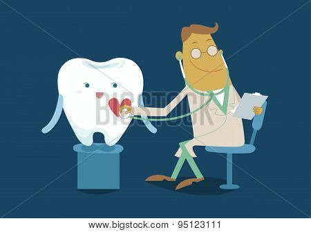 The doctor check checkup tooth