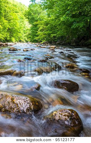 Blue Ridge Mountain River Flow