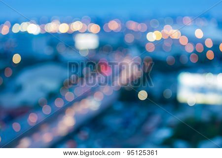 City road curve abstract blur bokeh background