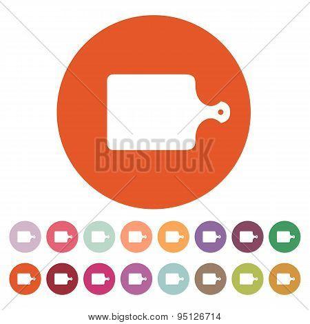 The Cutting Board Icon. Chopping Board Symbol. Flat
