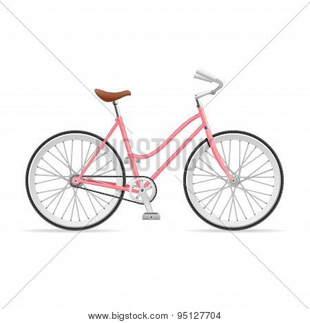 Vector Stylish Womens Bicycle