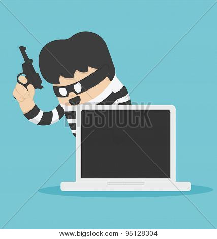 Thief With Computer