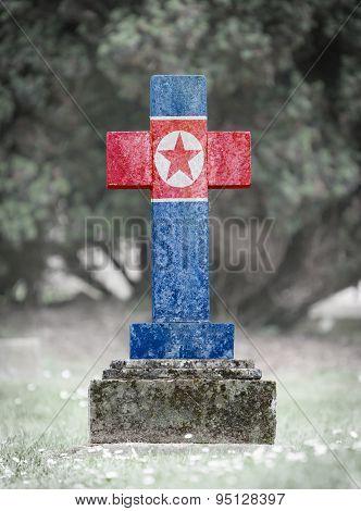 Gravestone In The Cemetery - North Korea