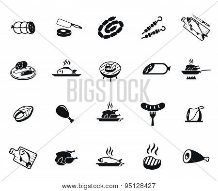 Meat and fish icons