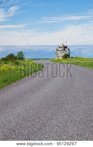 Winding Road To Ruins Of Former Pakri Lighthouse, Estonia