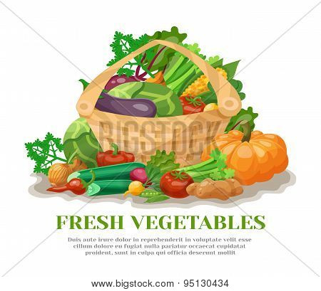 Vegetables Basket Still Life