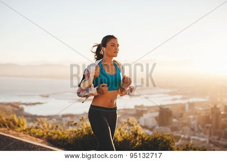 Young Woman Jogging Outdoor