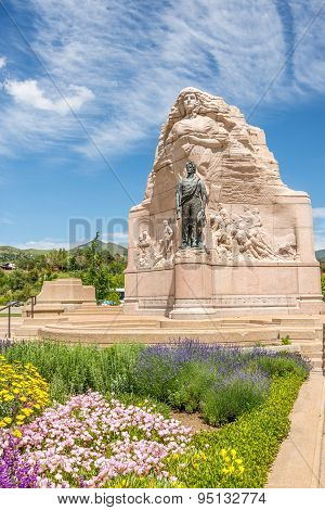 Memorial Of Mormon Battalion In Salt Lake City