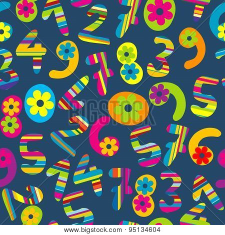 Abstract Background With Cartoon Numbers