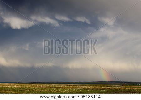 Storm Clouds Saskatchewan Rainbow