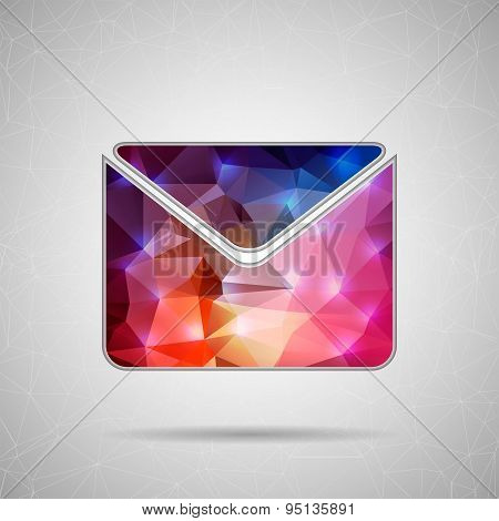 Creative concept vector icon of envelope for Web and Mobile Applications isolated on background. Vec