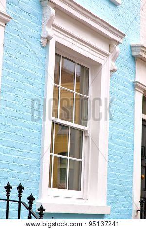 Notting   Hill  Area  In London  Antique Blue  Wall