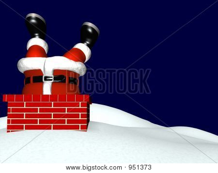 Santa Going Down Chimney 2