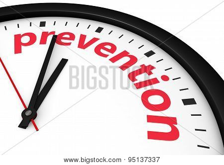 Prevention Time Health Safety Concept